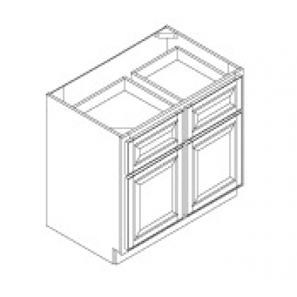 BASE CABINET--TWO DRAWERS,TWO DOORS--B33,B36