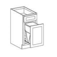 TRASH CAN BASE CABINET--ONE DRAWER,ONE DOOR--BWBK18